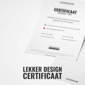 Lekker design certificaat