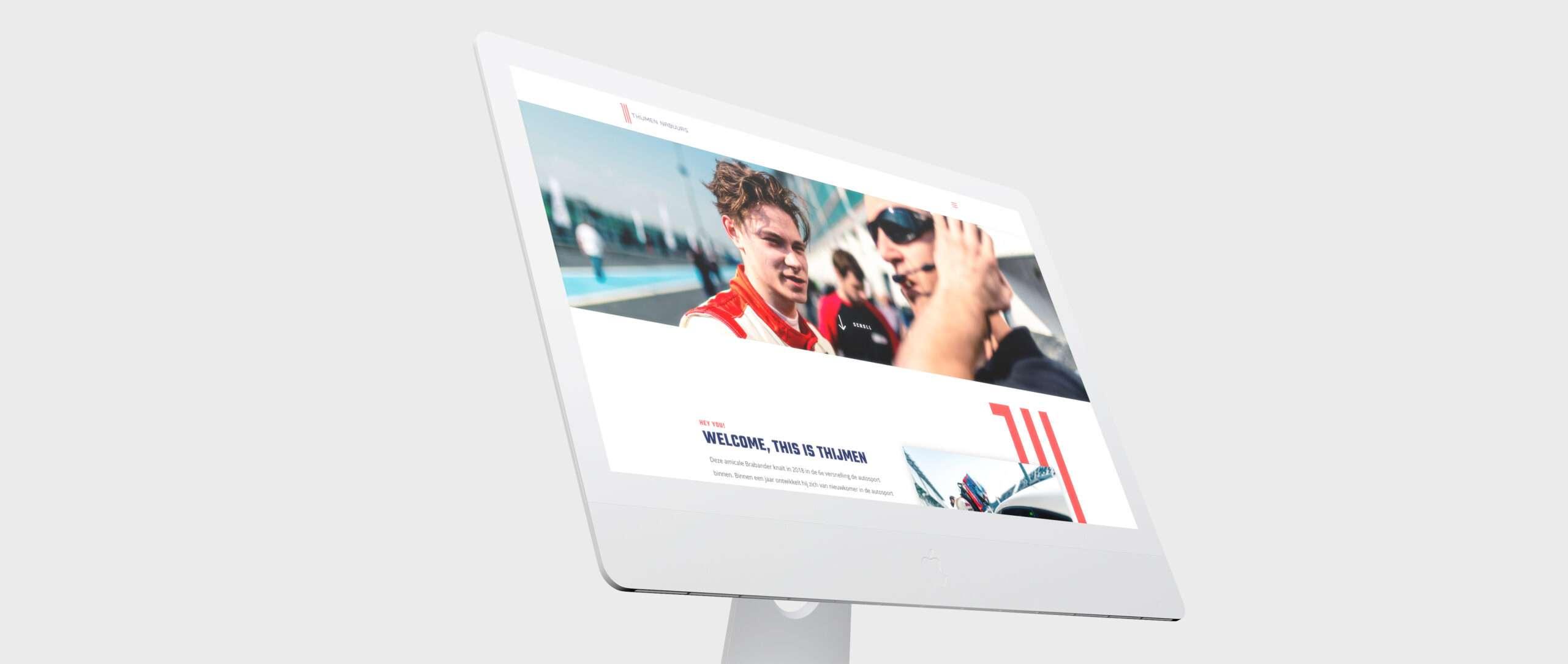 mock up website Thijmen Nabuurs