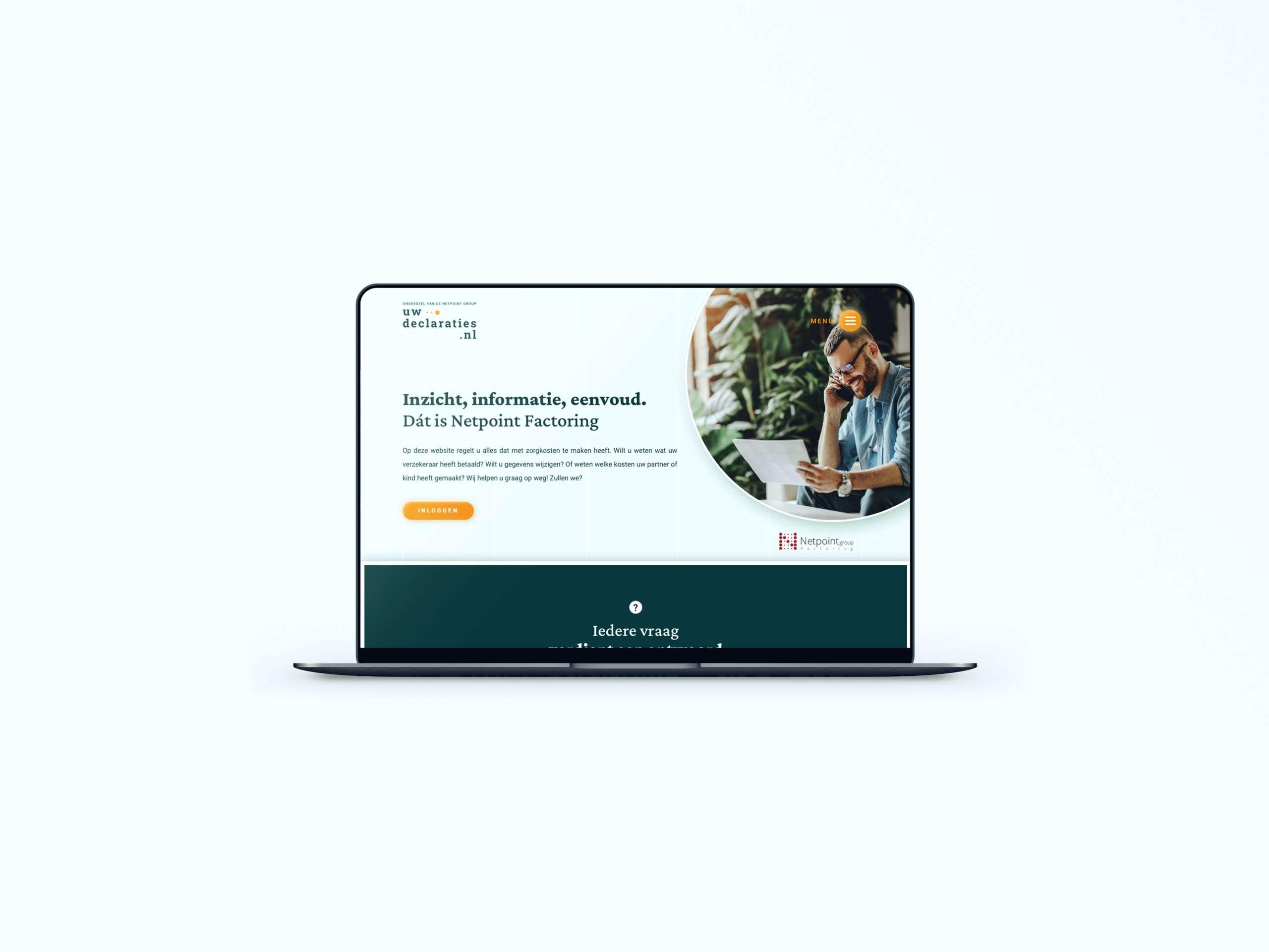mock up website portfolio uwdeclaraties