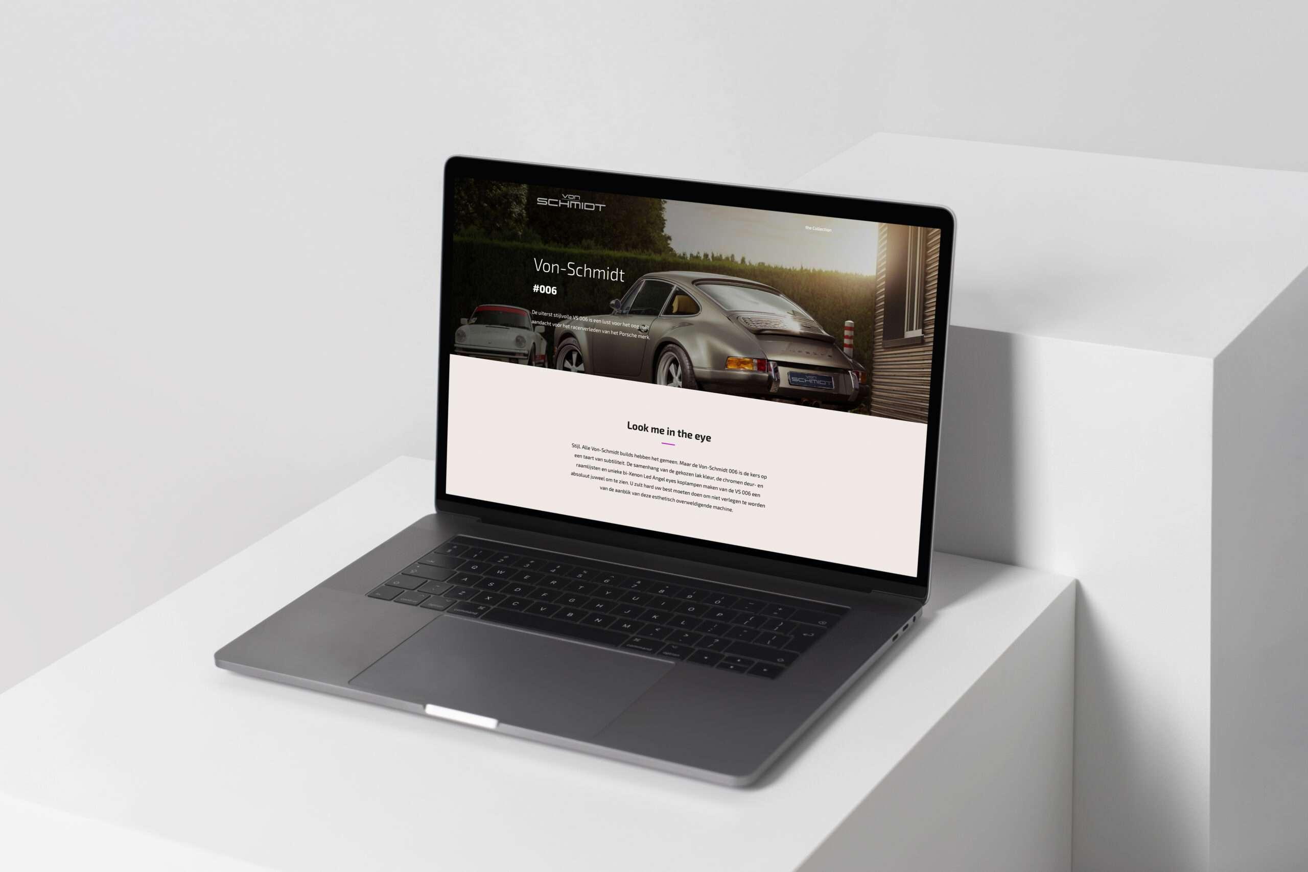 nieuwe von schmidt website portfolio