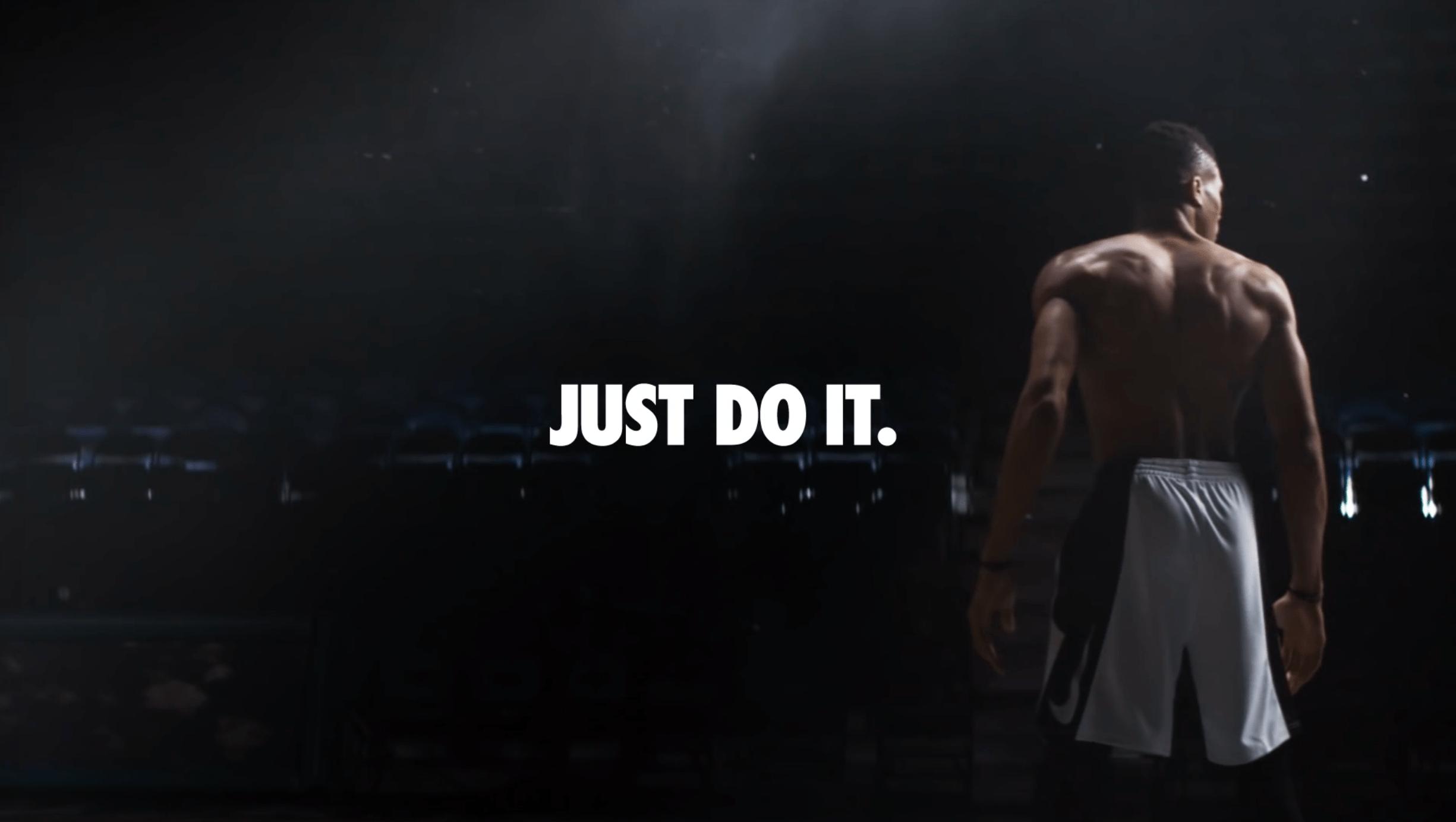 Nike slogan Just do it sterk design