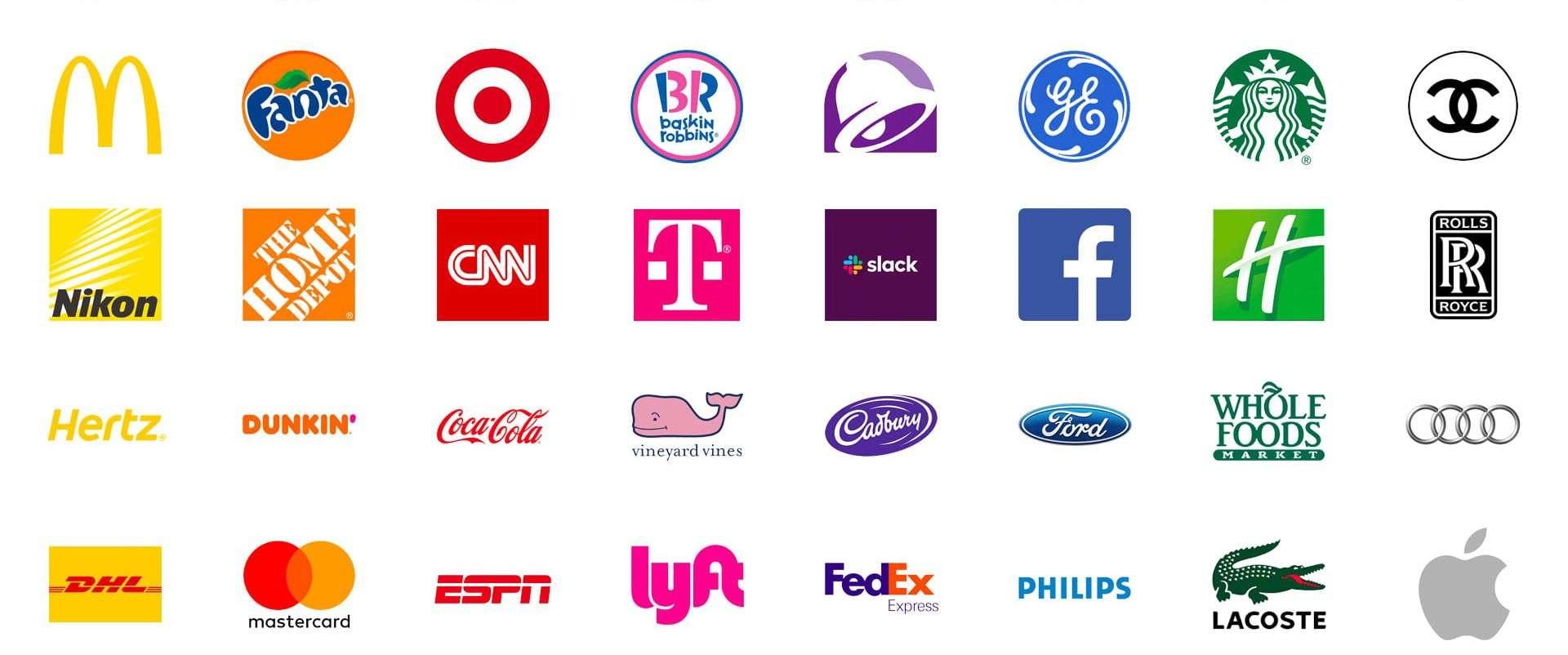 kleurenoverzicht en psychologie bekende logo's