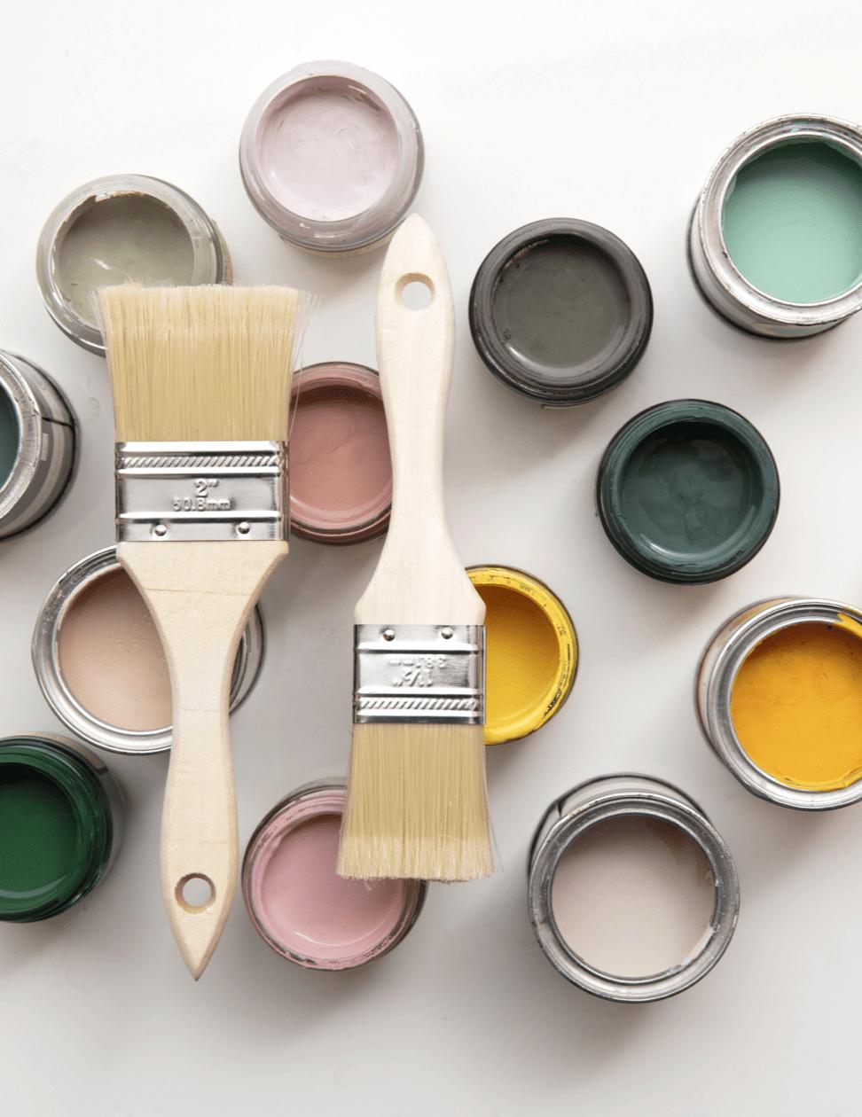 kwasten kleuren palet verf